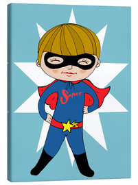 Lienzo  Our superhero Max - Little Miss Arty