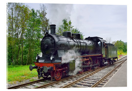 Cuadro de metacrilato  Old Steam Locomotive in the Black Forest - Fine Art Images