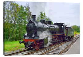 Lienzo  Old Steam Locomotive in the Black Forest - Fine Art Images