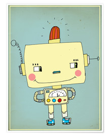 Póster  Robbie robot in love - Little Miss Arty