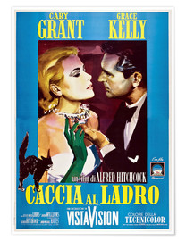 Póster TO CATCH A THIEF (CACCIA AL LADRO), Grace Kelly, Cary Grant