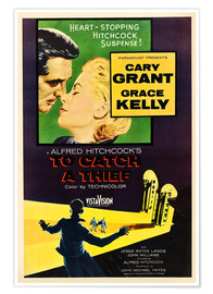 Póster TO CATCH A THIEF, Alfred Hitchcock, Cary Grant, Grace Kelly