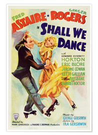 Póster  SHALL WE DANCE, Fred Astaire, Ginger Rogers