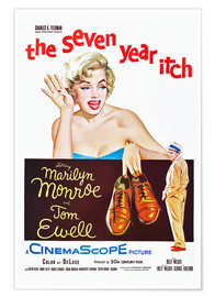 Póster  THE SEVEN YEAR ITCH, Marilyn Monroe, Tom Ewell