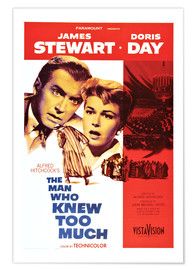 Póster  THE MAN WHO KNEW TOO MUCH, James Stewart, Doris Day