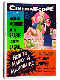 Lienzo  HOW TO MARRY A MILLIONAIRE, Betty Grable, Marilyn Monroe, Lauren Bacall