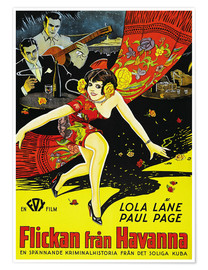 Póster  THE GIRL FROM HAVANA, (FLICKAN FRAN HAVANNA), Lola Lane