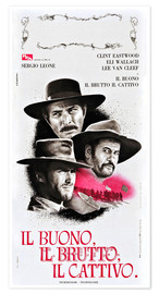 Póster  THE GOOD, THE BAD, AND THE UGLY (IL BUONO, IL BRUTTO, IL CATTIVO), Lee Van Cleef, Eli Wallach, Clint