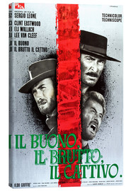 Lienzo  THE GOOD, THE BAD AND THE UGLY, (IL BUONO, IL BRUTTO, IL CATTIVO), Clint Eastwood, Lee Van cleef, El