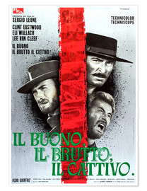Póster  THE GOOD, THE BAD AND THE UGLY, (IL BUONO, IL BRUTTO, IL CATTIVO), Clint Eastwood, Lee Van cleef, El