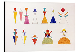 Aluminio-Dibond  Pictures at an Exhibition, numbers - Wassily Kandinsky