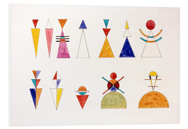 Cuadro de PVC  Pictures at an Exhibition, numbers - Wassily Kandinsky