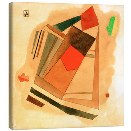 Lienzo  Red in a Square - Wassily Kandinsky