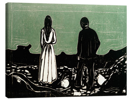 Lienzo  Two People (The Lonely Ones) - Edvard Munch