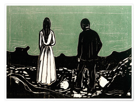 Póster  Two People (The Lonely Ones) - Edvard Munch