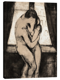 Lienzo  The Kiss - Edvard Munch