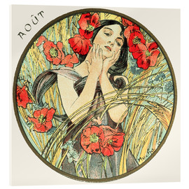 Metacrilato  Les Mois - August - Alfons Mucha