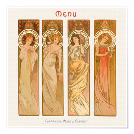 Póster  Champagne Moet & Chandon - Alfons Mucha