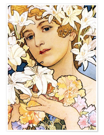 Póster  Flower, detail I - Alfons Mucha