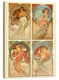 Lienzo   The four arts, collage - Alfons Mucha