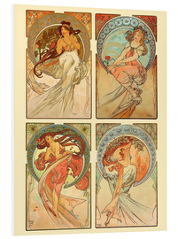 Forex   The four arts, collage - Alfons Mucha