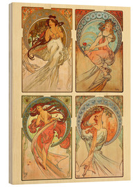 Madera   The four arts, collage - Alfons Mucha