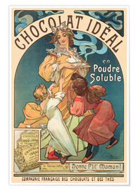 Póster  Chocolat Ideal - Alfons Mucha