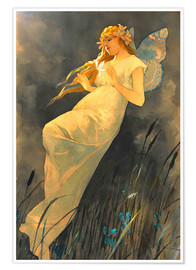 Póster  The Fairy - Alfons Mucha
