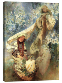 Lienzo  Lily Madonna - Alfons Mucha