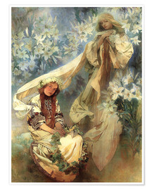 Póster  Lily Madonna - Alfons Mucha