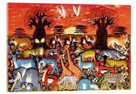 Cuadro de metacrilato  A nightly journey through the savanna - Zuberi