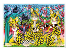 Póster  Leopard pack - Omary