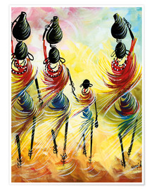 Póster African women fetching water