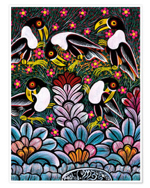 Póster  Toucans in the foliage - Mzuguno