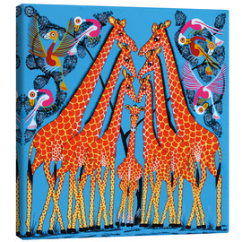 Lienzo  Dance of the Giraffe - Mrope