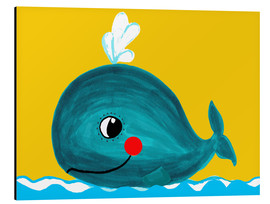 Aluminio-Dibond  Frida, the friendly whale - Little Miss Arty