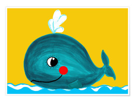 Póster  Frida, the friendly whale - Little Miss Arty