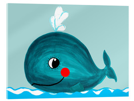 Cuadro de metacrilato  Willfried, la ballena amiga - Little Miss Arty