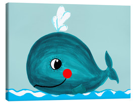 Lienzo  Willfried, la ballena amiga - Little Miss Arty