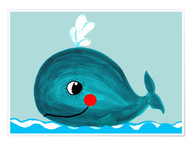 Póster  Willfried, la ballena amiga - Little Miss Arty