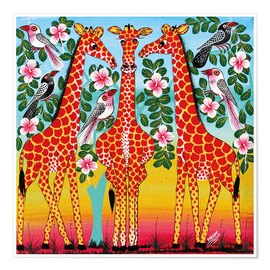 Póster The giraffes meeting