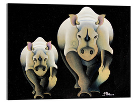 Mkura - Rhino Mother and Child
