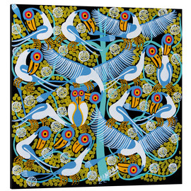 Cuadro de aluminio  Colorful flock of birds in the tree crown - Mangula