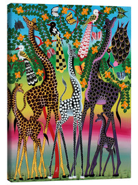 Lienzo  Giraffes in African colors - Maulana