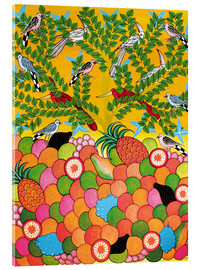 Cuadro de metacrilato  Fruits and birds - Majidu