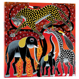 Cuadro de metacrilato  Animals on the big night tree - Hassani