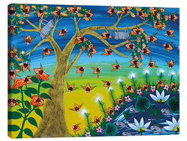 Lienzo  Bees on a tree - Majidu