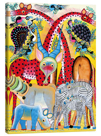 Lienzo  Colorful wild animals of Africa - Lewis