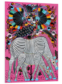 Forex  Zebra couple with magnificent flock of birds - Lewis