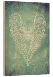 Madera  Vintage Winged Heart - Sybille Sterk